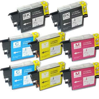 Brother LC-39 Compatible Black / Color Ink Cartridges (Pack of 8)