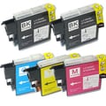 Brother LC-39 Compatible Black / Color Ink Cartridges (Pack of 5)