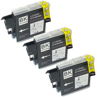 Brother LC-39 Compatible Black Ink Cartridges (Pack of 3)