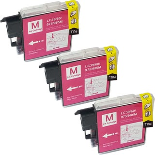 Brother LC-39 Compatible Magenta Ink Cartridges (Pack of 3)