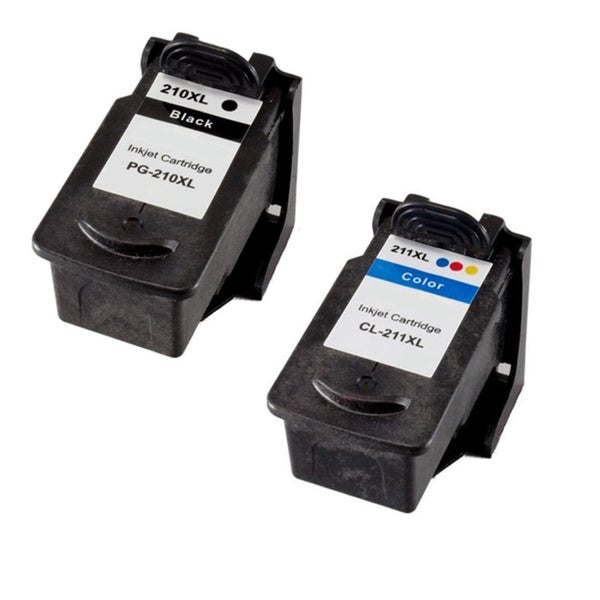 Canon PG210XL CL211XL Compatible Black/Color Ink Cartridge (Pack of 2)(Remanufactured)