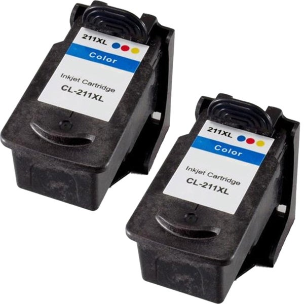 Canon CL211XL High Capacity Compatible Black/Color Ink Cartridge (Pack of 2)(Remanufactured)