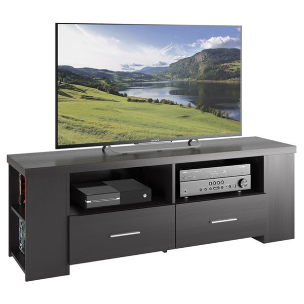 Sonax Bromley Wood Ravenwood Black 60-inch Entertainment Center
