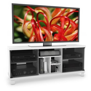 Sonax Holland Wood Frost White 60-inch Entertainment Center
