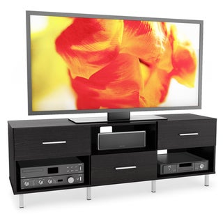 Sonax Sedona Wood Ravenwood Black 60-inch 3-drawer Entertainment Center