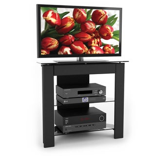 Sonax LX Series Wood Midnight Black 34-inch Entertainment Center