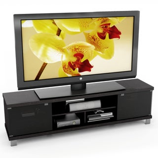 sonax holland collection wood ravenwood black extra wide entertainment center. Black Bedroom Furniture Sets. Home Design Ideas