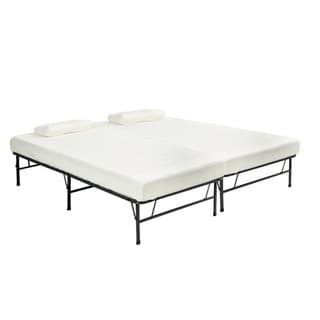 Pragma Quad-Fold King Frame with Split Memory Foam Mattress
