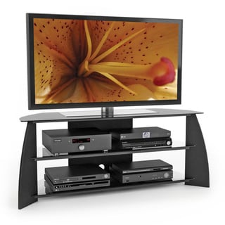 Sonax Florence Wood Midnight Black 57-inch Entertainment Center