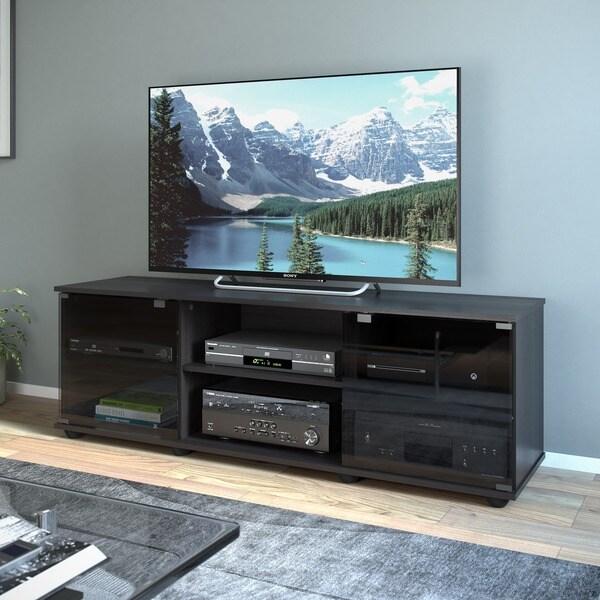 Sonax Fiji Wood Ravenwood Black 60-inch Entertainment Center 9885703
