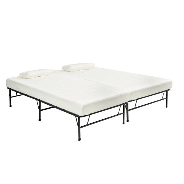 Pragma bi fold full size bed with memory foam mattress for Beds 3 4 size