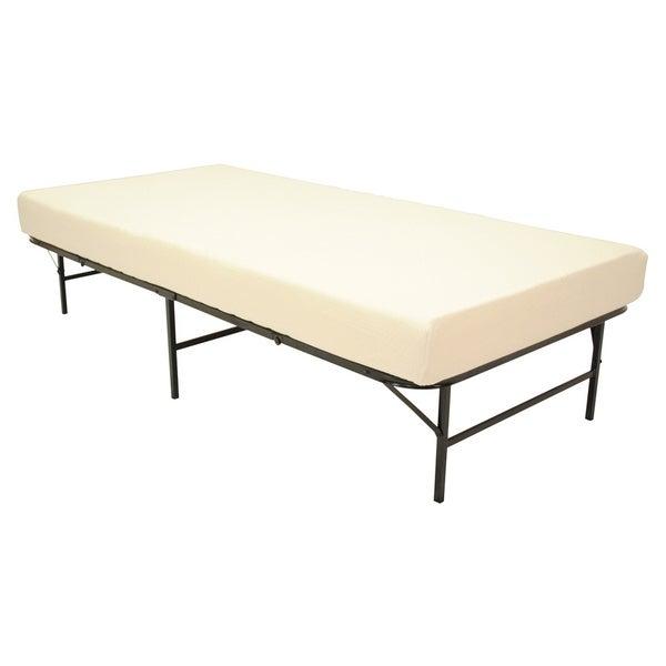Pragma Quad-Fold Bed Frame Twin-size with 6-inch Memory Foam Mattress