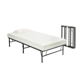 Pragma Fold Bed Frame Twin XL-size with 6-inch Memory Foam Mattress