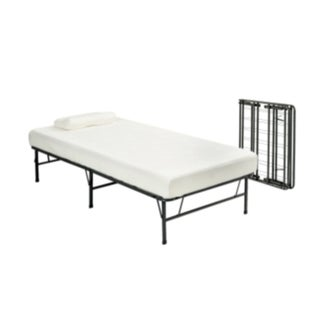 Pragma Fold Bed Frame Twin XL-size with 6-inch Memory Foam Mattress