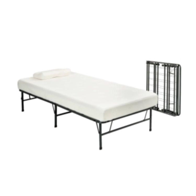 Pragma Bi Fold Twin Bed Frame with Memory Foam Mattress