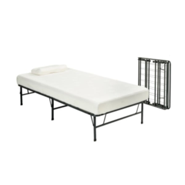 Pragma Bi-Fold Twin Bed Frame with Memory Foam Mattress