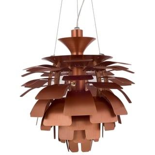 19-inch Artichoke Style Chandelier Copper Modern Lamp