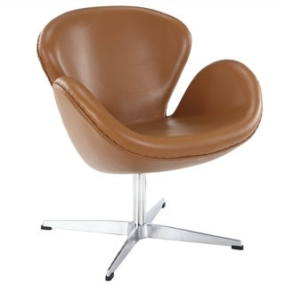 Arne Jacobsen Terracotta Aniline Leather Swan Chair