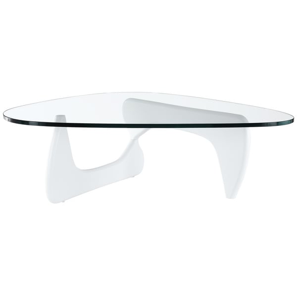 Triangle Coffee Table in White