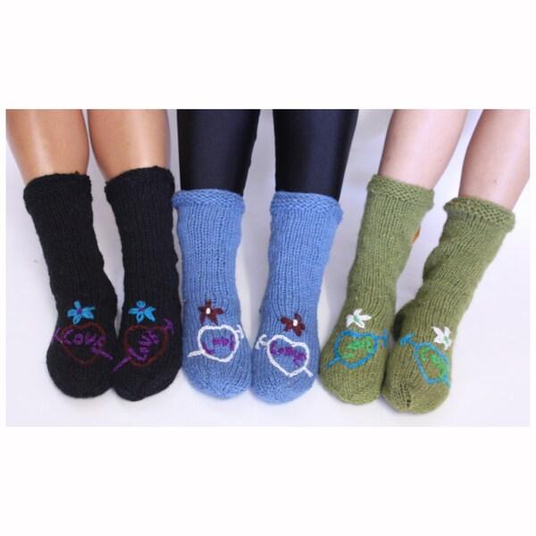 Multicolor Wool Love Socks (Nepal)