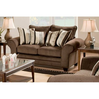 Burlington Waverly Godiva Loveseat Kendu Onyx Pillows Set