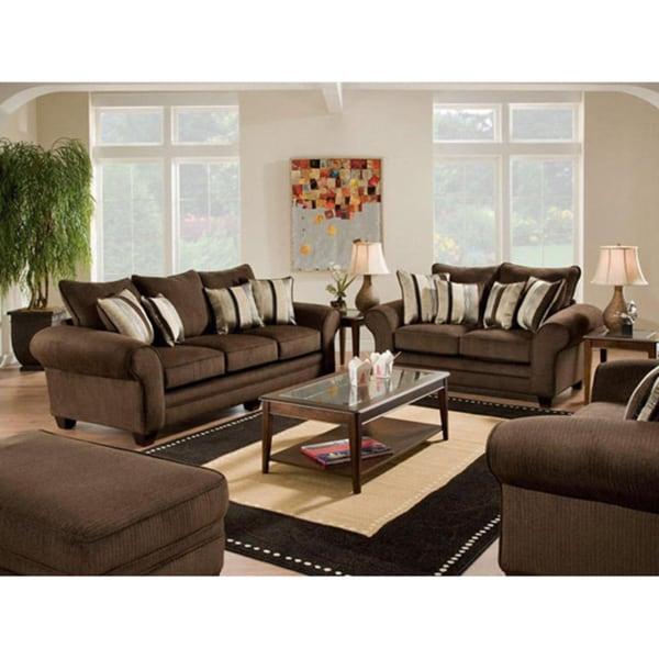 Burlington Waverly Godiva Sofa and Loveseat Set