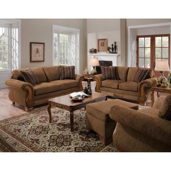 Sullivan Chocolate Coffee Sofa and Loveseat Set