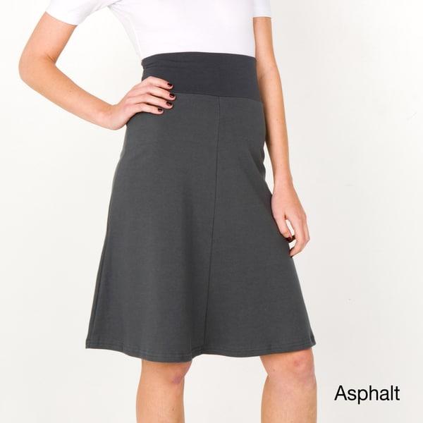 American Apparel Women's Interlock High-Waist Skirt