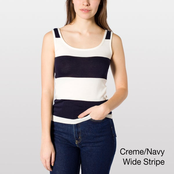 American Apparel Women's Lightweight Knit Tank Top