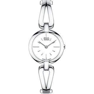 ESQ by Movado Women's 07101394 Swiss Corbel Stainless Steel Bangle Bracelet Watch