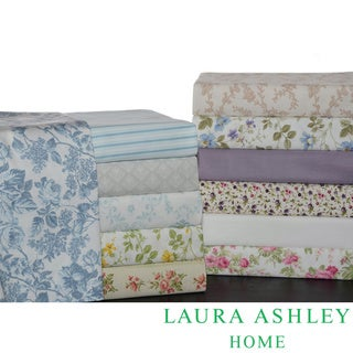 Laura Ashley 100-Percent Cotton Sheet Set or Pillowcase Separates