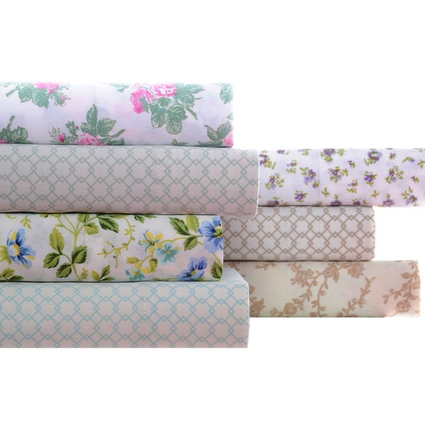 Laura Ashley 100-Percent Cotton Sheet Set