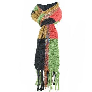 Recycled Silk and Acrylic Multi Scarf (Nepal)