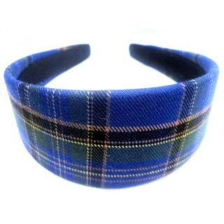 Crawford Corner Shop Marine Blue Green Plaid Headband