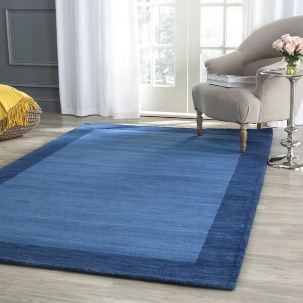 Safavieh Handmade Himalayan Gabeh Blue Wool Rug (8'x10')