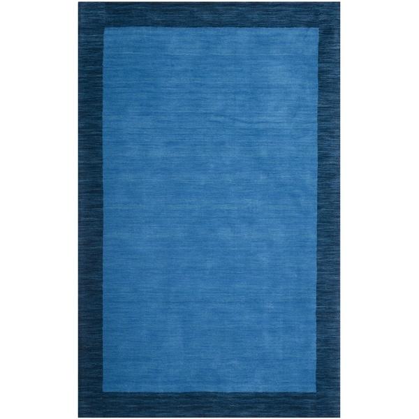 Safavieh Handmade Himalayan Gabeh Blue Wool Rug