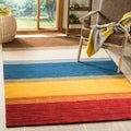 Safavieh Handmade Himalayan Gabeh Stripe Wool Rug