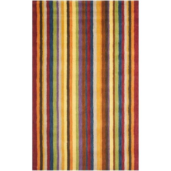 Safavieh Handmade Himalayan Gabeh Stripe Wool Rug