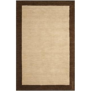Safavieh Handmade Himalayan Gabeh Beige Wool Rug