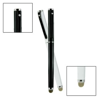 Dual-Purpose Micro-Knit Technology Capacitive Stylus Rollerball Ink Pen for all Touch Screen Devices (Pack of 2)