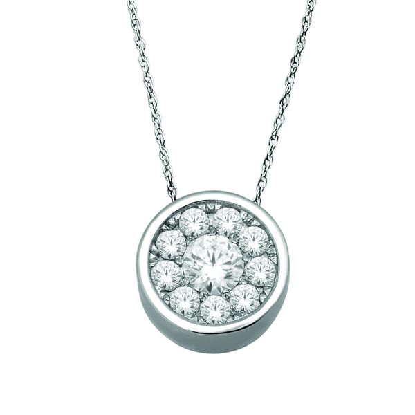 De Couer 10k White Gold 1/4ct TDW Diamond Necklace (H-I, I2)