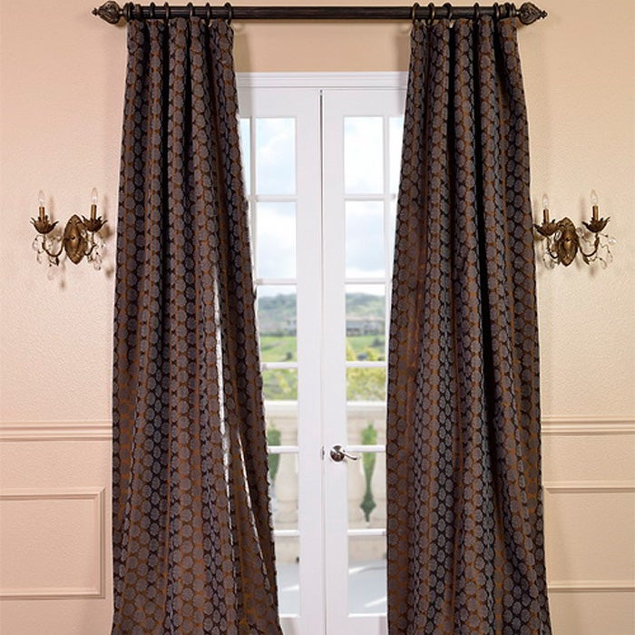 EFF Rosetta Chestnut Faux Silk Curtain Panel at Sears.com