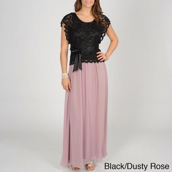 Decode 1.8 Women Mock Two Piece Gown