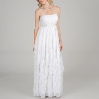 Decode 1.8 Women Multi Ruffle Goddess Gown