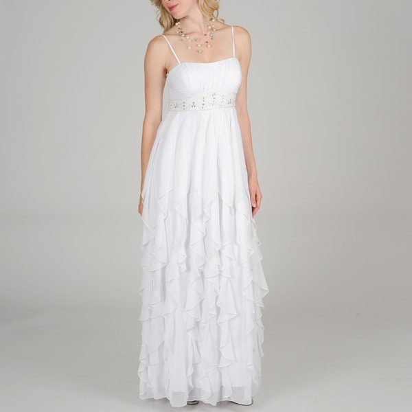 Decode 1.8 Women Multi Ruffle Goddess Gown