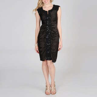 Decode 1.8 Women Beaded Lace Satin Dress