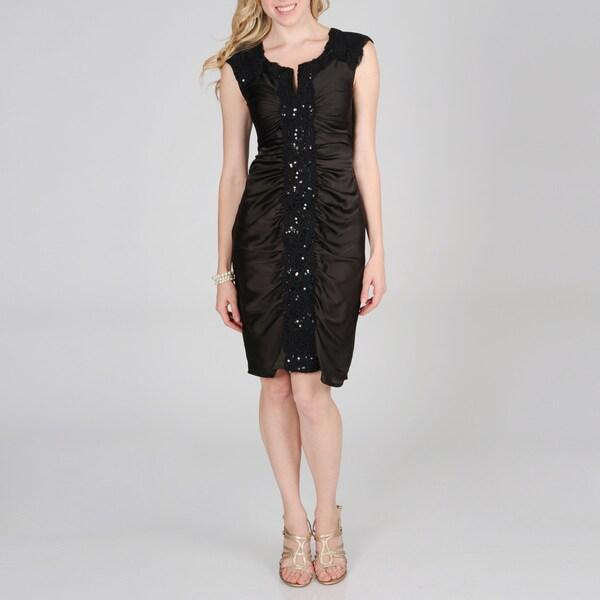 Decode 1.8 Women Beaded Lace Satin Dress