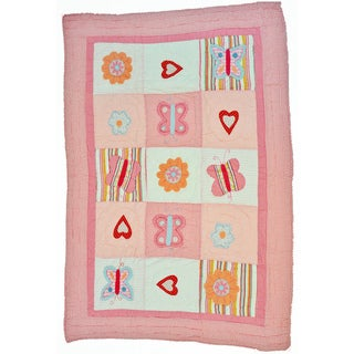 Cottage Home Sweet Love Baby Quilt