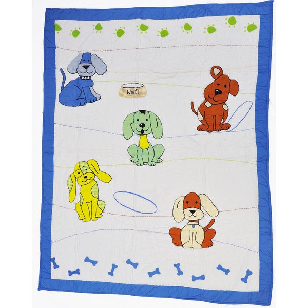 Cottage Home Puppy and Pal Baby Quilt