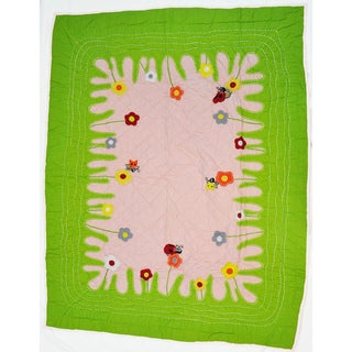 Cottage Home Lady Bug Crib Quilt
